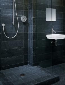svart dusch