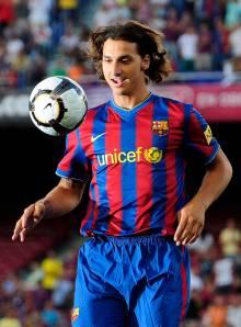 Spain Soccer Barcelona Ibrahimovic