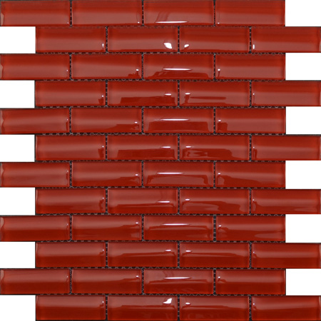 Hoppe GTC-7301 Convex glass deep red brick glossy