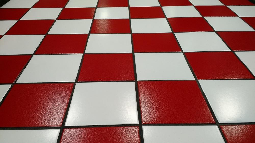 Mönstrat golv